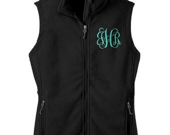 Monogrammed Vest  - Fleece Vest - Monogrammed Fleece - Sorority Vest - Sorority Fleece - Monogrammed Gift