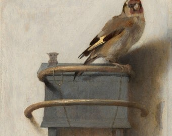 The Goldfinch by Carel Fabritius, various sizes. Giclee Canvas Art Print