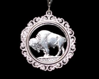 Filigree Bezel Sterling Silver Nickel Size- Addition Elegant