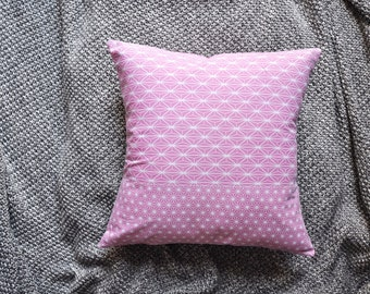 Geometric Cushion Cover, Throw Pillow Cover, Throw Cushion Cover, Decorative Cushion Cover, Decorative Pillow Cover - Pink Grid Lines