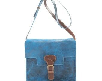 Valencia  leather handbag messenger bag handmade
