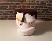 Reserved for Rushell Foster. One of a kind hand sculpted, hand painted marshmallow designer toy art figurine.