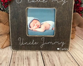 uncle picture frame custom picture frame i love my uncle picture frame uncle gift personalized picture frame