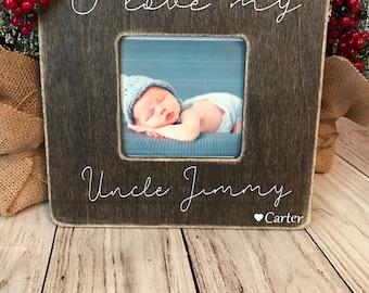 uncle picture frame custom picture frame i love my uncle picture frame uncle gift personalized picture frame