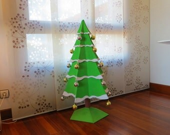 Cardboard Christmas tree. DIY