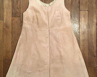 Short dress 70's suede