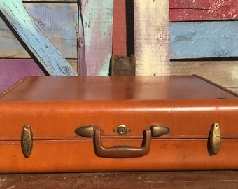 "25"" Brown Samsonite Suitcases Luggage /#4635 Shwayder Bros Inc Denver Detroit /Vintage 1950s /Hard Case/ Shell Case"