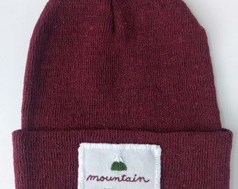 Mountain Man Beanie in Cranberry
