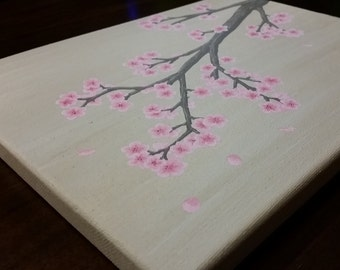 Cherry Blossoms - Acrylic Painting on Canvas