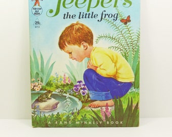 Jeepers the Little Frog by Marjorie Cooper, 1965 Tip-Top Elf Book with 29 Cent Cover