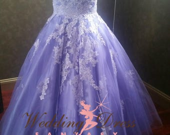 Lilac Lavender Wedding Dress Ready To Ship