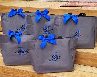 Set of 12 Tote Bags Bridesmaid Bags Bridesmaid Tote Bag Monogrammed Bag Personalized Wedding Tote