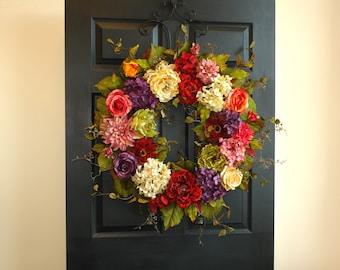 spring wreaths for front door wreaths summer wreaths gift decorations outdoor wreath birthday gift summer wreath