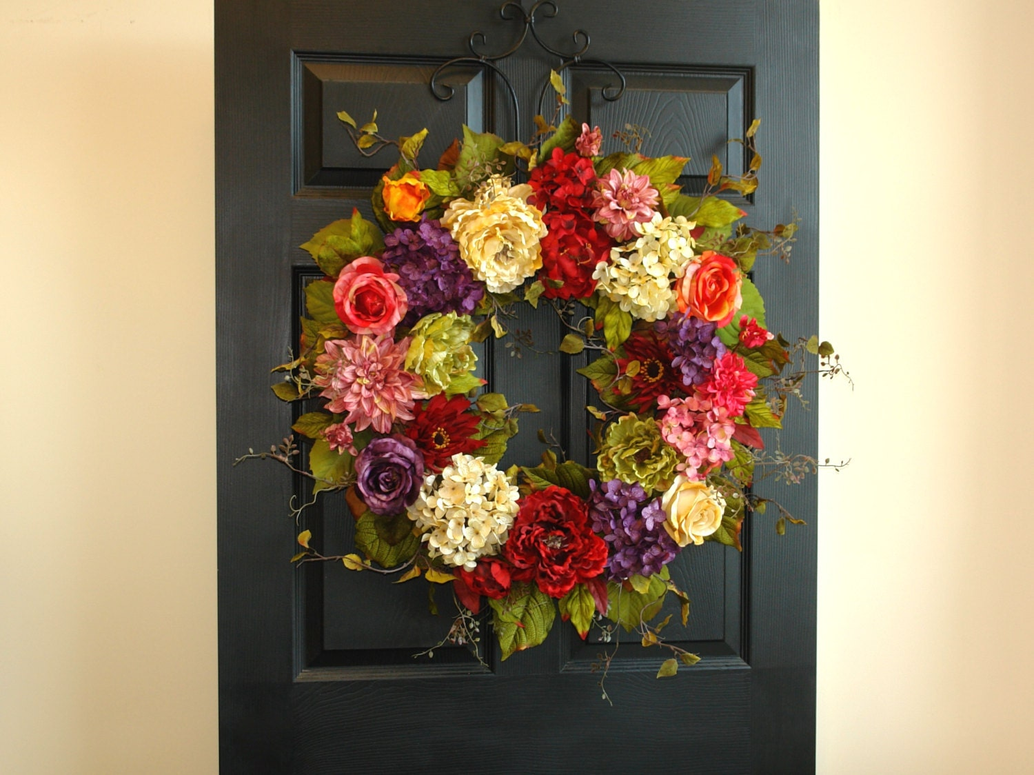 Spring wreaths for front door wreaths summer decorations for 3 wreath door decoration