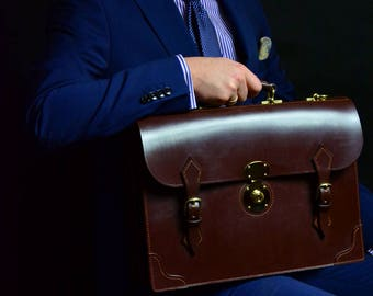 Bridle leather briefcase MTO/bespoke