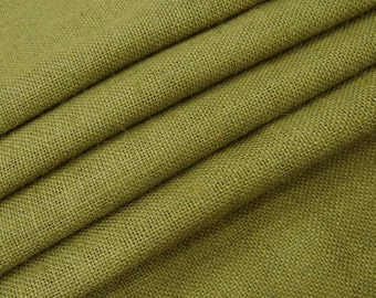 """Olive Green Natural Jute Fabric, Home Accessories, Olive Green Burlap, Rustic Fabric, 50"""" Inch Wide Jute Fabric By The Yard ZJC1G"""