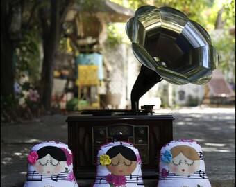 Matryoshka Pillow dolls - Babushka - Nesting Dolls - Russian Dolls - Nursery Pillows - Nursery Decor