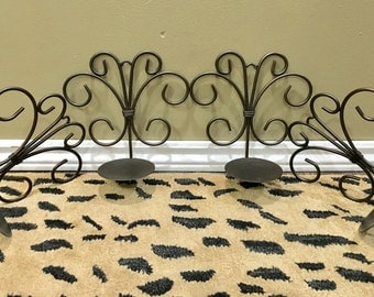 SALE - Vintage Metal Wall Sconce Candle Holders