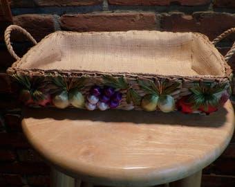Wicker casserole holder, Rattan Casserole holder, Casserole dish carrier, nesting basket