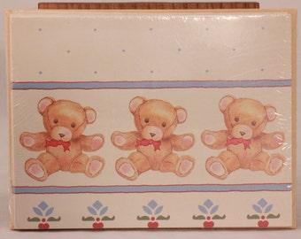 Vintage Teddy Bear Notes. 8 Notes & Envelopes. Blank Inside