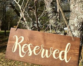 Reserved wedding sign