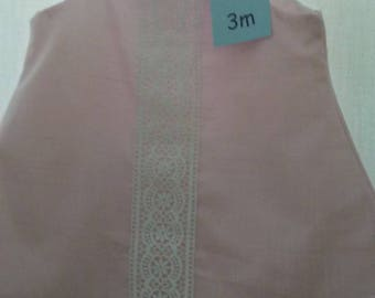 Light pink linen baby girl dress and bloomer set size 3 months