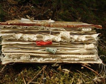 Woodland journal, junk journal, journal, botanical journal, nature journal, naturalist journal, art journaling, handmade journal