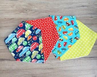 Boys Dribble Bibs, Car Bib, Baby Bib Set, Toddler Bibs, Baby Gift, Baby Shower, New Baby, UK