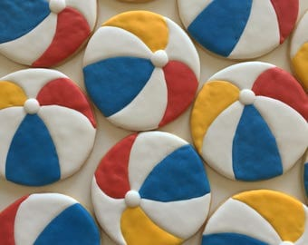 Beach Ball Sugar Cookies (One Dozen)