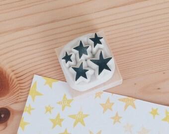 Star hand carved rubber stamp.star stamp.star rubber stamp.