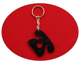 Black Bakelite Telephone Lucky Charm Bag Dangler Key Ring Party Favour Favor