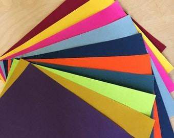 """10 Pack - 10"""" x 8"""" - Bookcloth Bundle - Colors"""