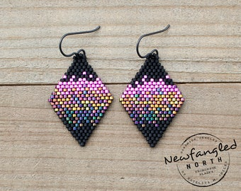 Aurora Earrings - Pink