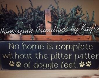 Doggie Feet Sign