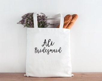 Bridesmaid Tote, Personalized Bridesmaid tote, Custom bridesmaid tote, Wedding party, wedding party gift, bridesmaid gift