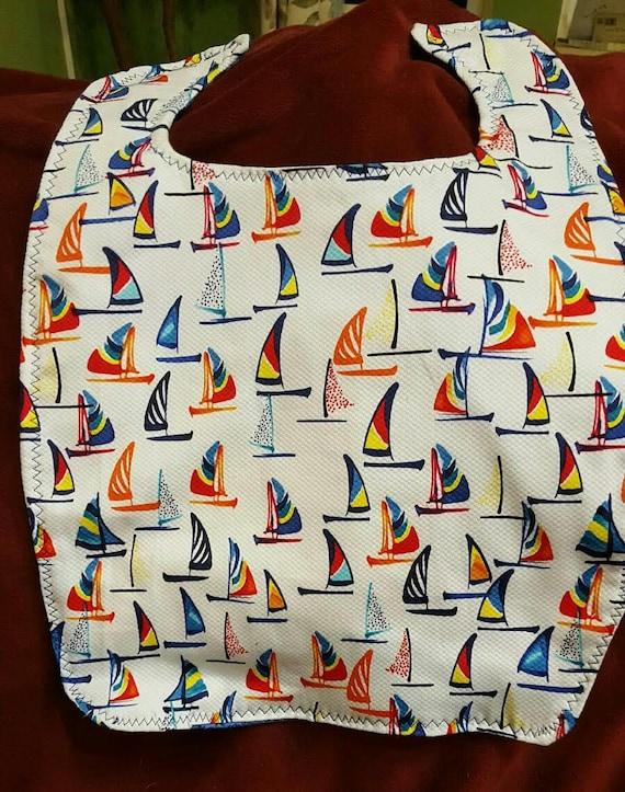 Adult/Large Nautical Boat Bib