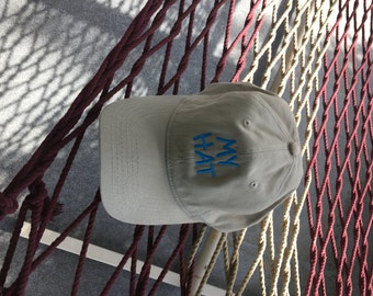 My Hat - Khaki Hat With Jay Blue Lettering