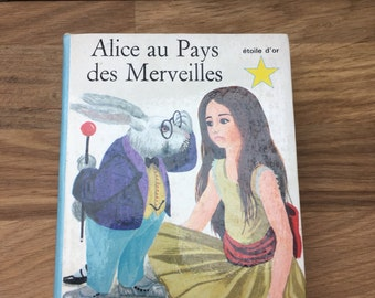 Vintage French Alice on Wonderland Book