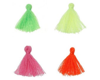 40 mini PomPoms Neon colors neon 26mm