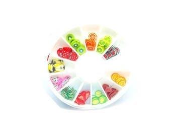 120 washers fimo fruit slices