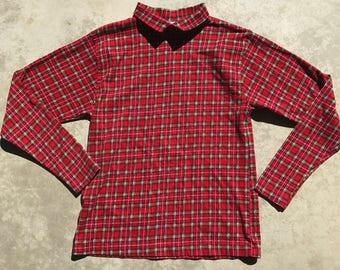 Vintage Pendleton Red Plaid Long Sleeve Shirt Womens Size: Medium