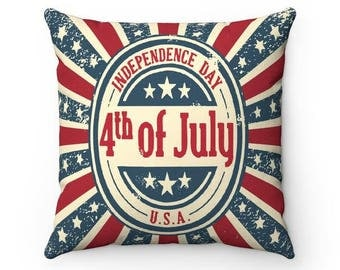 4th of July Independence Day Throw Pillow Cases