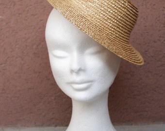 1950's Straw Mini Top Hat