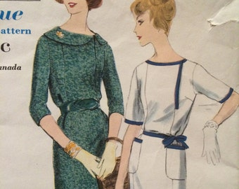 Rare Vintage Dress Pattern---Vogue 9906---Featured in April/May 1960 Vogue Pattern Book