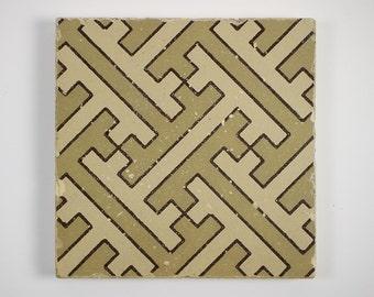 Stylish antique 1880s Minton Aesthetic Movement pottery tile