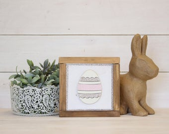 Pieced Egg | DIY Pocket Frame Insert Kit | SIZE A | Frame Not Included | 2 Egg Styles Available