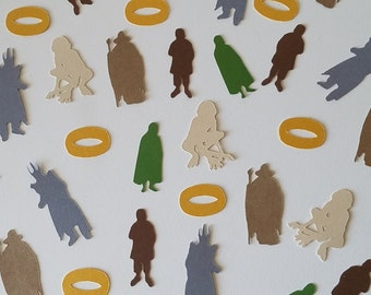 Lord of the Rings Confetti - Set of 120 - Party Decor - Hobbit - Frodo- Gandalf - Gollum - Sauron - J.R.R. Tolkien