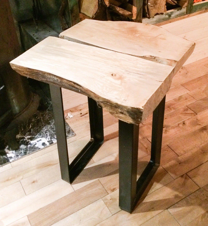 Boho Handmade Nightstand / Coffee Table Mapple Wood Log