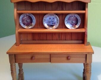 1/12, dolls house, furniture, handmade, pine dresser