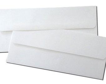 Double Wedding Tea Length Envelope Sets - White Outer & Inner Envelopes - 25 Pack